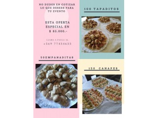 Productos para Cocktail (Canapés, empanaditas, tapaditos)