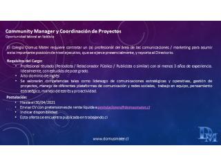 Community Manager y Coordinación de Proyectos (Valdivia)
