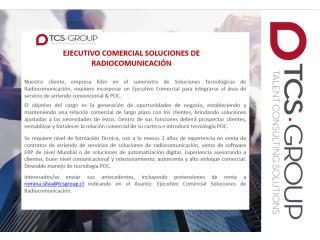 Ejecutivo Comercial Soluciones Radiocomunicación