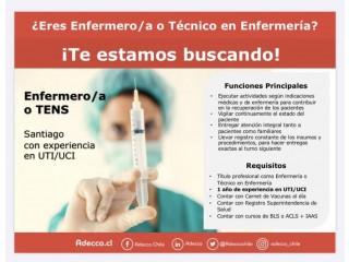 Técnico en Enfermería o Profesional en Enfermería
