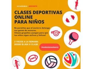 Clases de Deporte para niños Online