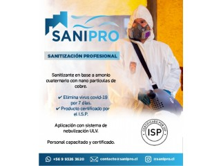 SANIPRO, Sanitización Profesional